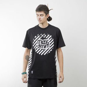 Mass Denim koszulka t-shirt Stripes Logo black