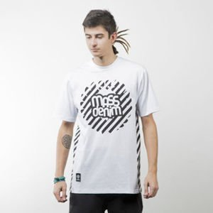 Mass Denim koszulka t-shirt Stripes Logo white