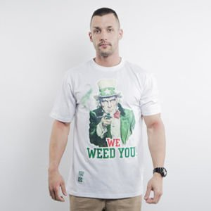 Mass Denim koszulka t-shirt We Weed You white