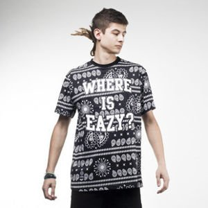 Mass Denim koszulka t-shirt Where is Eazy black