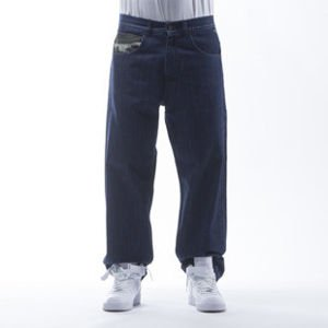 Mass Denim spodnie Jeans Battle baggy fit dark blue