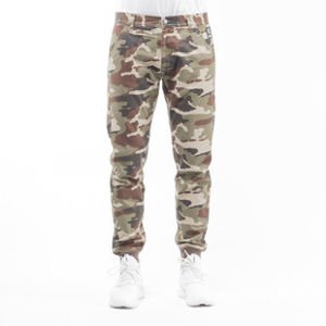 Mass Denim spodnie jogger chino Classics sneaker fit woodland camo light