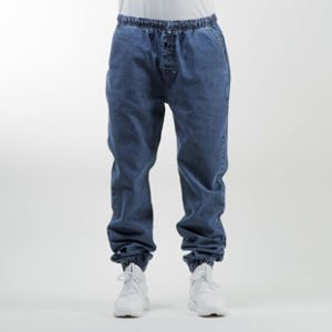 Mass Denim spodnie jogger pants Drop Denim loose fit blue