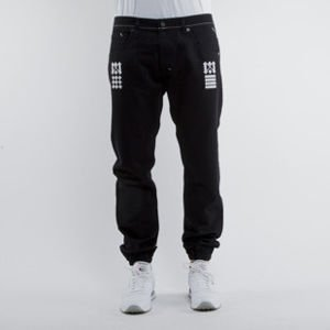 Mass Denim spodnie jogger pants Sensei sneaker fit black BLAKK