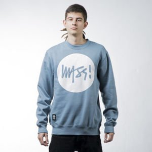 Mass Denim sweatshirt bluza Signature crewneck steel blue