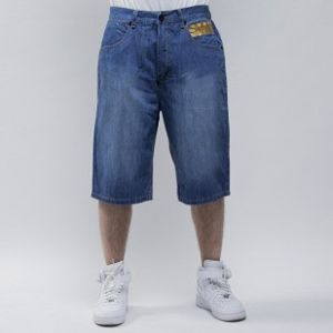 Mass Denim szorty Class baggy fit blue