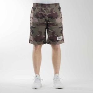 Mass Denim szorty sportshorts Battle mesh woodland camo