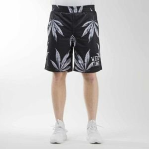 Mass Denim szorty sportshorts Blvck Weed mesh black