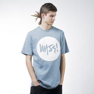 Mass Denim t-shirt koszulka Signature steel blue