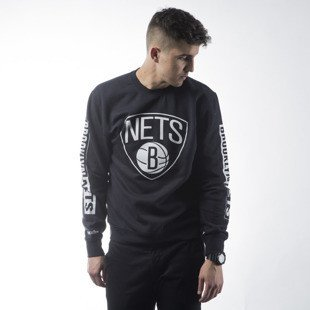 Mitchell & Ness bluza crewneck Brooklyn Nets black Free Throw