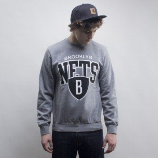 Mitchell & Ness bluza crewneck Brooklyn Nets grey hether Team Arch