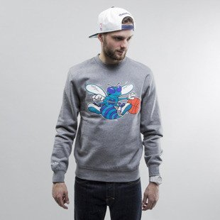 Mitchell & Ness bluza crewneck Charlotte Hornets heather grey Team Logo