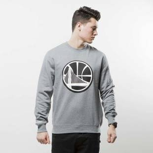 Mitchell & Ness bluza crewneck Golden State Warriors grey BLACK and WHITE LOGO