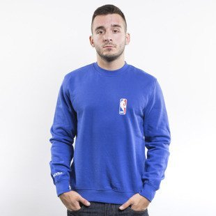Mitchell & Ness bluza crewneck NBA Logoman royal Team Logo