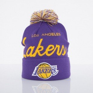 Mitchell & Ness czapka Los Angeles Lakers purple Special Script Knit Bobble