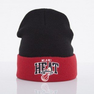 Mitchell & Ness czapka Miami Heat black Arched Cuff Knit