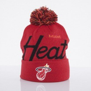 Mitchell & Ness czapka Miami Heat red Special Script Knit Bobble