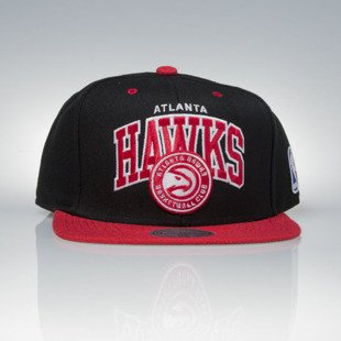 Mitchell & Ness czapka snapback Atlanta Hawks black / red  TEAM ARCH NA80Z
