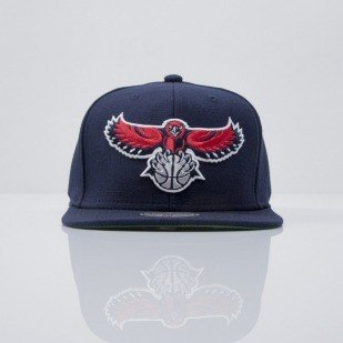 Mitchell & Ness czapka snapback Atlanta Hawks navy  WOOL SOLID NZ979