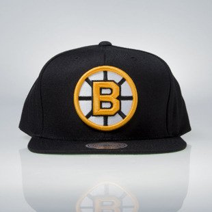 Mitchell & Ness czapka snapback Boston Bruins black Wool Solid / Solid 2 NZ980