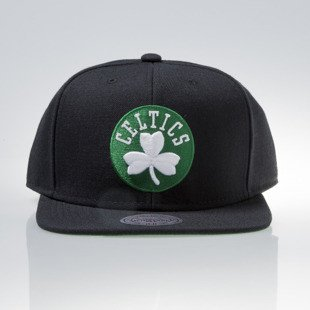 Mitchell & Ness czapka snapback Boston Celtics black WOOL SOLID NL99Z