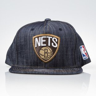 Mitchell & Ness czapka snapback Brooklyn Nets DARK DENIM VW46Z