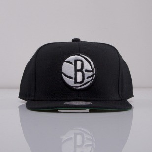 Mitchell & Ness czapka snapback Brooklyn Nets black Wool Solid 2 NT78Z