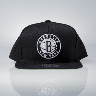 Mitchell & Ness czapka snapback Brooklyn Nets black Wool Solid / Solid 2 NL99Z