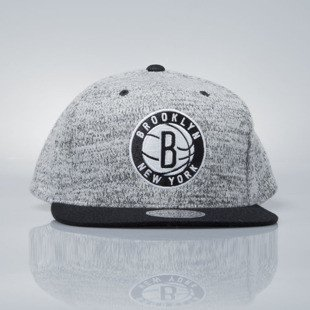 Mitchell & Ness czapka snapback Brooklyn Nets grey heather / black EU957 GREY DUSTER