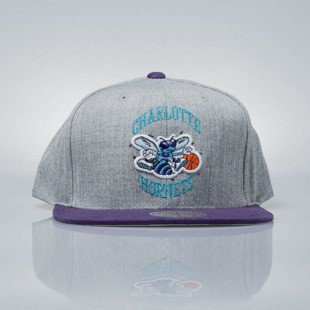 Mitchell & Ness czapka snapback Charlotte Hornets grey heather / purple VO60Z HEATHER MICRO