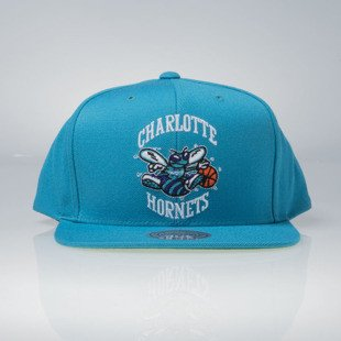 Mitchell & Ness czapka snapback Charlotte Hornets teal Wool Solid / Solid 2 NZ979
