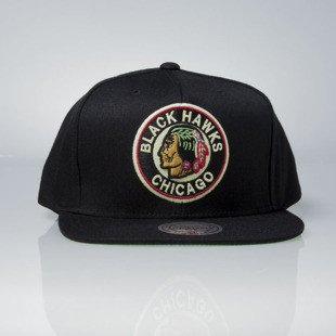 Mitchell & Ness czapka snapback Chicago Blackhawks black Wool Solid / Solid 2 NL17Z