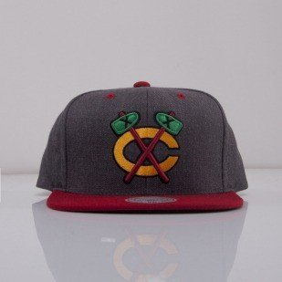 Mitchell & Ness czapka snapback Chicago Blackhawks dark grey Charcoal Dune 2Tone EU426