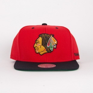 Mitchell & Ness czapka snapback  Chicago Blackhawks red / black Flipside