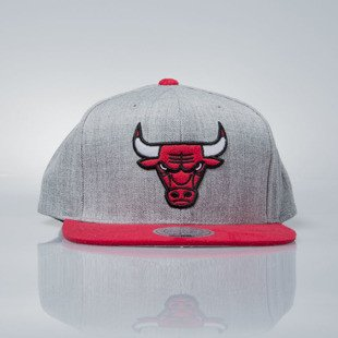 Mitchell & Ness czapka snapback Chicago Bulls grey heather / red VO59Z HEATHER MICRO