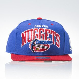 Mitchell & Ness czapka snapback Denver Nuggets blue TEAM ARCH NA80Z
