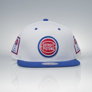 Mitchell & Ness czapka snapback Detroit Pistons white / royal Bad Boy Era Back To Back '89-'90 Champions VP02Z