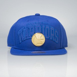 Mitchell & Ness czapka snapback Golden State Warriors blue Lux Arch EU942