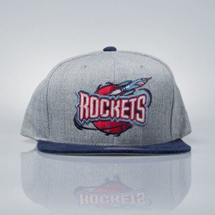 Mitchell & Ness czapka snapback Houston Rockets grey heather / navy EU938 HEATHER MICRO