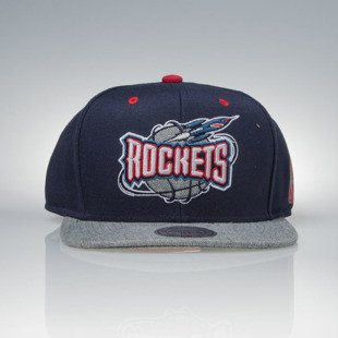 Mitchell & Ness czapka snapback Houston Rockets navy / grey Greytist EU938