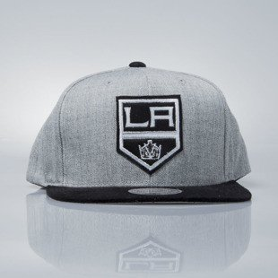 Mitchell & Ness czapka snapback Los Angeles Kings grey heather / black VO61Z HEATHER MICRO