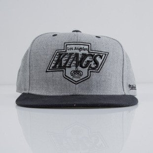 Mitchell & Ness czapka snapback Los Angeles Kings heather grey EU438 BACKBOARD