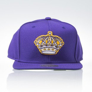 Mitchell & Ness czapka snapback Los Angeles Kings purple WOOL SOLID 2  NL17Z