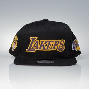 Mitchell & Ness czapka snapback Los Angeles Lakers black Chrona / Reflective 16x Champion VP08Z