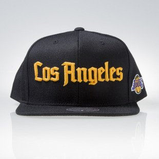 Mitchell & Ness czapka snapback Los Angeles Lakers black GOTHAM CITY VW49Z