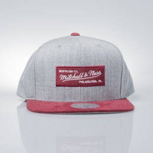 Mitchell & Ness czapka snapback M&N Logo grey heather / burgundy EU1012 HEATHER MICRO