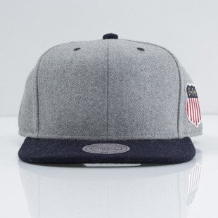 Mitchell & Ness czapka snapback M&N grey / navy Retro Melton Wool VF58Z