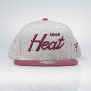 Mitchell & Ness czapka snapback Miami Heat heather grey EU494 JOLT