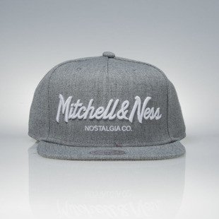 Mitchell & Ness czapka snapback Mitchell And Ness Logo grey heather Pinscript EU336