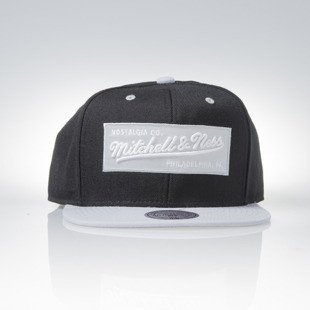 Mitchell & Ness czapka snapback Mitchell and Ness Logo black / grey M&N Box Logo NE18Z